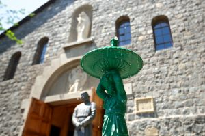 Green Fountain at Church