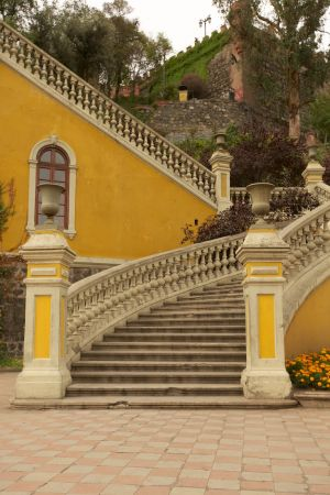 Steps and Yellow Wall